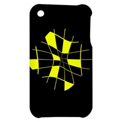 Yellow abstract flower Apple iPhone 3G/3GS Hardshell Case