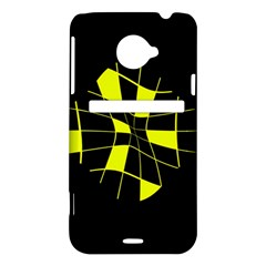Yellow abstract flower HTC Evo 4G LTE Hardshell Case
