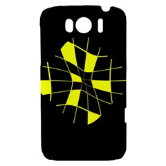 Yellow abstract flower HTC Sensation XL Hardshell Case