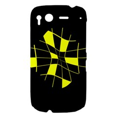 Yellow abstract flower HTC Desire S Hardshell Case