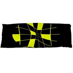 Yellow abstract flower Body Pillow Case Dakimakura (Two Sides)