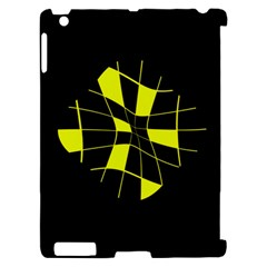 Yellow abstract flower Apple iPad 2 Hardshell Case (Compatible with Smart Cover)