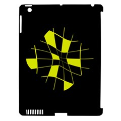 Yellow abstract flower Apple iPad 3/4 Hardshell Case (Compatible with Smart Cover)