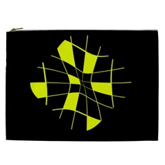 Yellow abstract flower Cosmetic Bag (XXL)