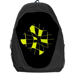 Yellow abstract flower Backpack Bag