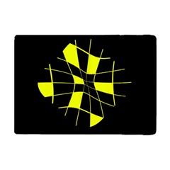 Yellow abstract flower Apple iPad Mini Flip Case