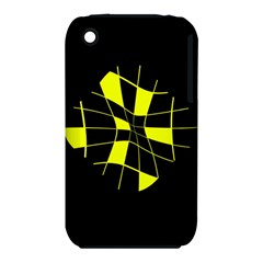 Yellow abstract flower Apple iPhone 3G/3GS Hardshell Case (PC+Silicone)