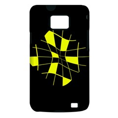 Yellow abstract flower Samsung Galaxy S II i9100 Hardshell Case (PC+Silicone)