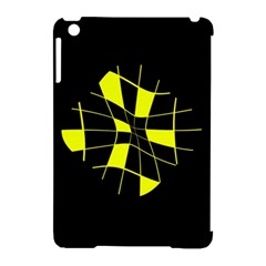 Yellow abstract flower Apple iPad Mini Hardshell Case (Compatible with Smart Cover)