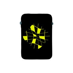 Yellow abstract flower Apple iPad Mini Protective Soft Cases
