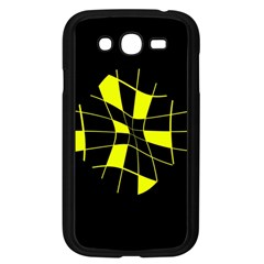 Yellow abstract flower Samsung Galaxy Grand DUOS I9082 Case (Black)