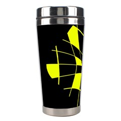 Yellow abstract flower Stainless Steel Travel Tumblers