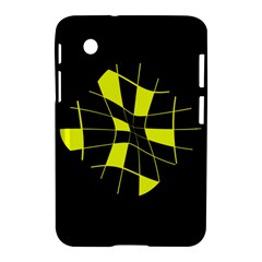 Yellow abstract flower Samsung Galaxy Tab 2 (7 ) P3100 Hardshell Case