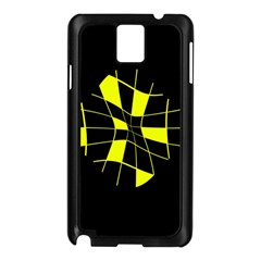 Yellow abstract flower Samsung Galaxy Note 3 N9005 Case (Black)