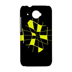 Yellow abstract flower HTC Desire 601 Hardshell Case