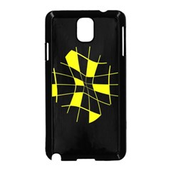 Yellow abstract flower Samsung Galaxy Note 3 Neo Hardshell Case (Black)