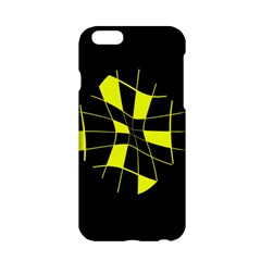 Yellow abstract flower Apple iPhone 6/6S Hardshell Case
