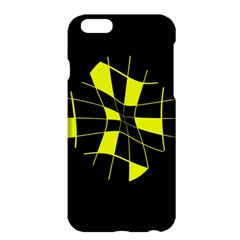 Yellow abstract flower Apple iPhone 6 Plus/6S Plus Hardshell Case