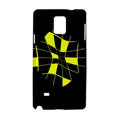 Yellow abstract flower Samsung Galaxy Note 4 Hardshell Case