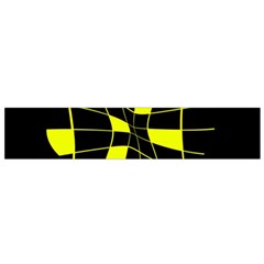 Yellow abstract flower Flano Scarf (Small)