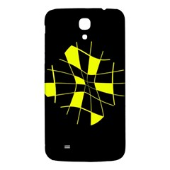 Yellow abstract flower Samsung Galaxy Mega I9200 Hardshell Back Case