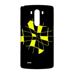 Yellow abstract flower LG G3 Back Case