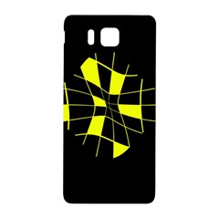 Yellow abstract flower Samsung Galaxy Alpha Hardshell Back Case