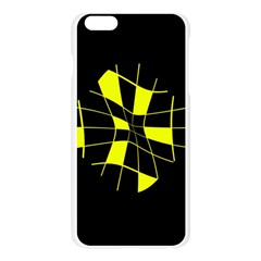 Yellow abstract flower Apple Seamless iPhone 6 Plus/6S Plus Case (Transparent)