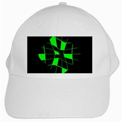 Green abstract flower White Cap