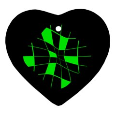 Green abstract flower Ornament (Heart)