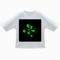 Green abstract flower Infant/Toddler T-Shirts