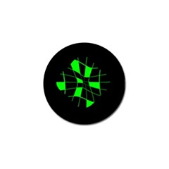 Green abstract flower Golf Ball Marker