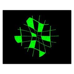 Green abstract flower Rectangular Jigsaw Puzzl