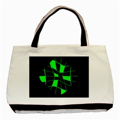 Green abstract flower Basic Tote Bag