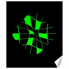 Green abstract flower Canvas 20  x 24