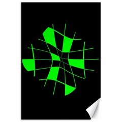 Green abstract flower Canvas 20  x 30