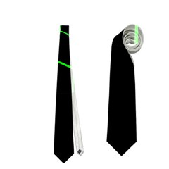 Green abstract flower Neckties (One Side)