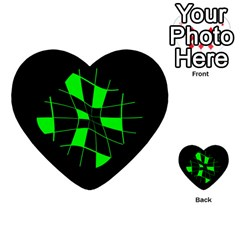 Green abstract flower Multi-purpose Cards (Heart)
