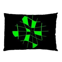 Green abstract flower Pillow Case