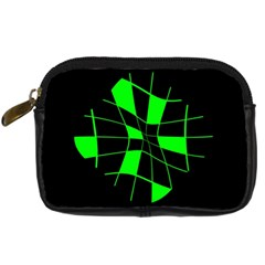 Green abstract flower Digital Camera Cases