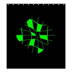 Green abstract flower Shower Curtain 66  x 72  (Large)