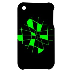 Green abstract flower Apple iPhone 3G/3GS Hardshell Case