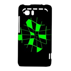 Green abstract flower HTC Vivid / Raider 4G Hardshell Case