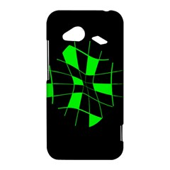Green abstract flower HTC Droid Incredible 4G LTE Hardshell Case
