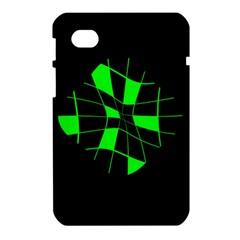 Green abstract flower Samsung Galaxy Tab 7  P1000 Hardshell Case