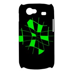 Green abstract flower Samsung Galaxy Nexus S i9020 Hardshell Case