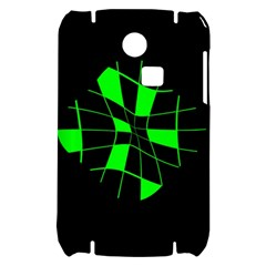 Green abstract flower Samsung S3350 Hardshell Case