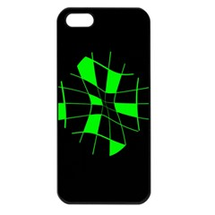 Green abstract flower Apple iPhone 5 Seamless Case (Black)