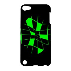 Green abstract flower Apple iPod Touch 5 Hardshell Case