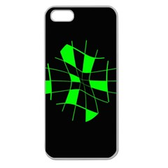 Green abstract flower Apple Seamless iPhone 5 Case (Clear)